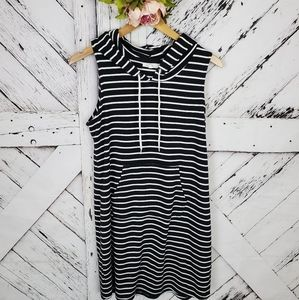 Maurices Striped Pullover Dress Hood L